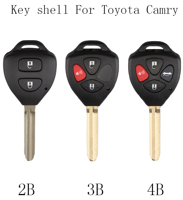 Br Keys 2 3 4 Ons Car Remote Key Shell Fob For Toyota Camry Corolla Avalon
